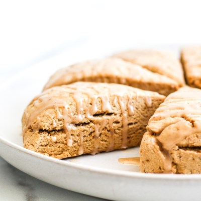 Gluten Free Cinnamon Scones with Maple Icing