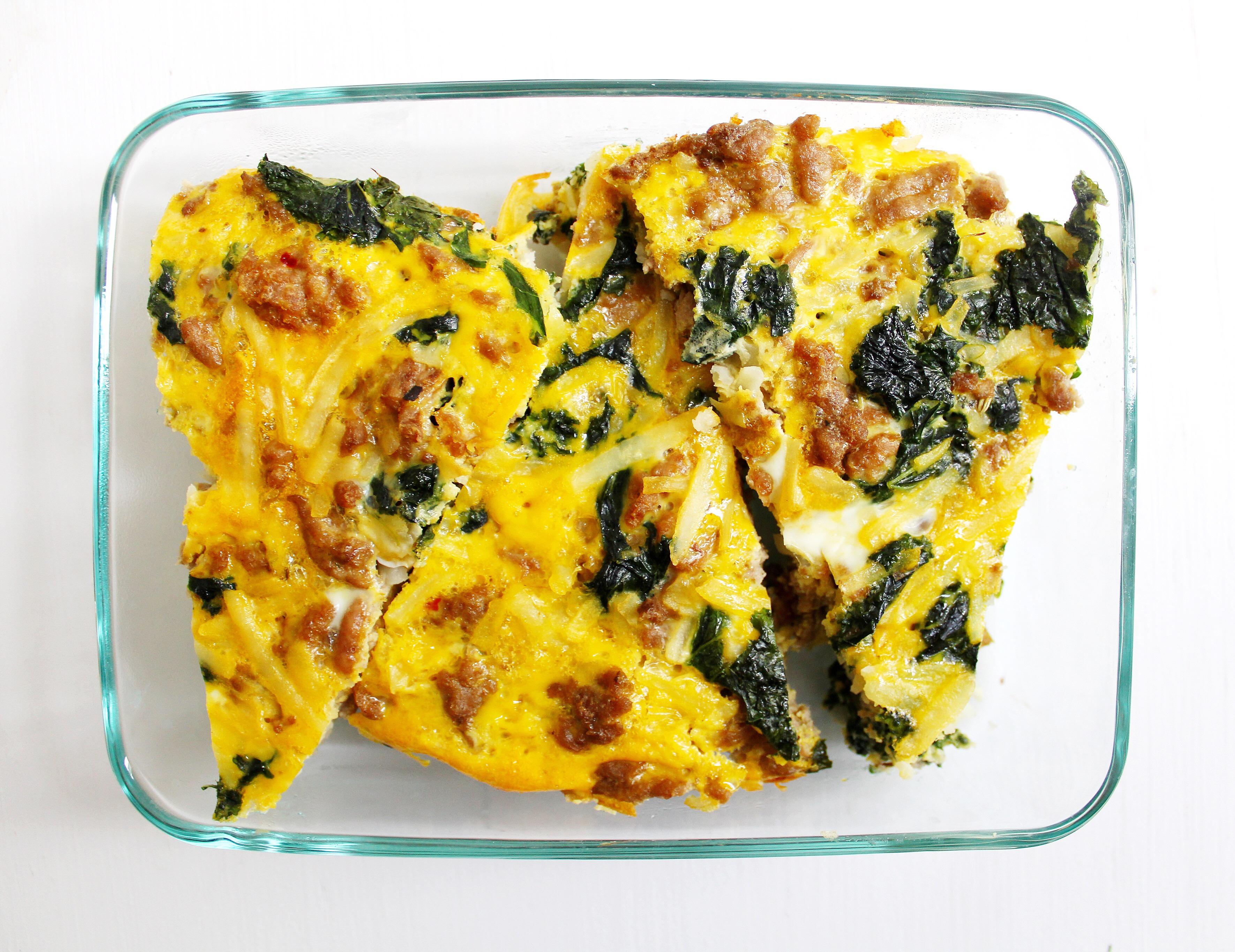 Turkey and Kale Breakfast Bake