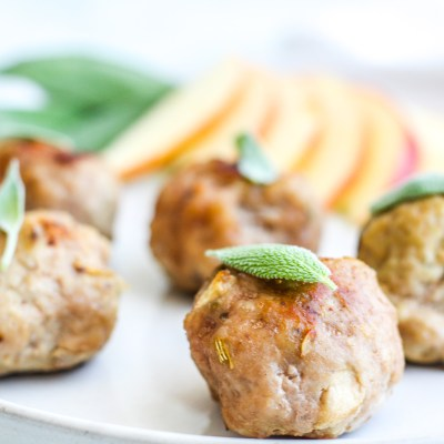 Sage & Apple Breakfast Meatballs