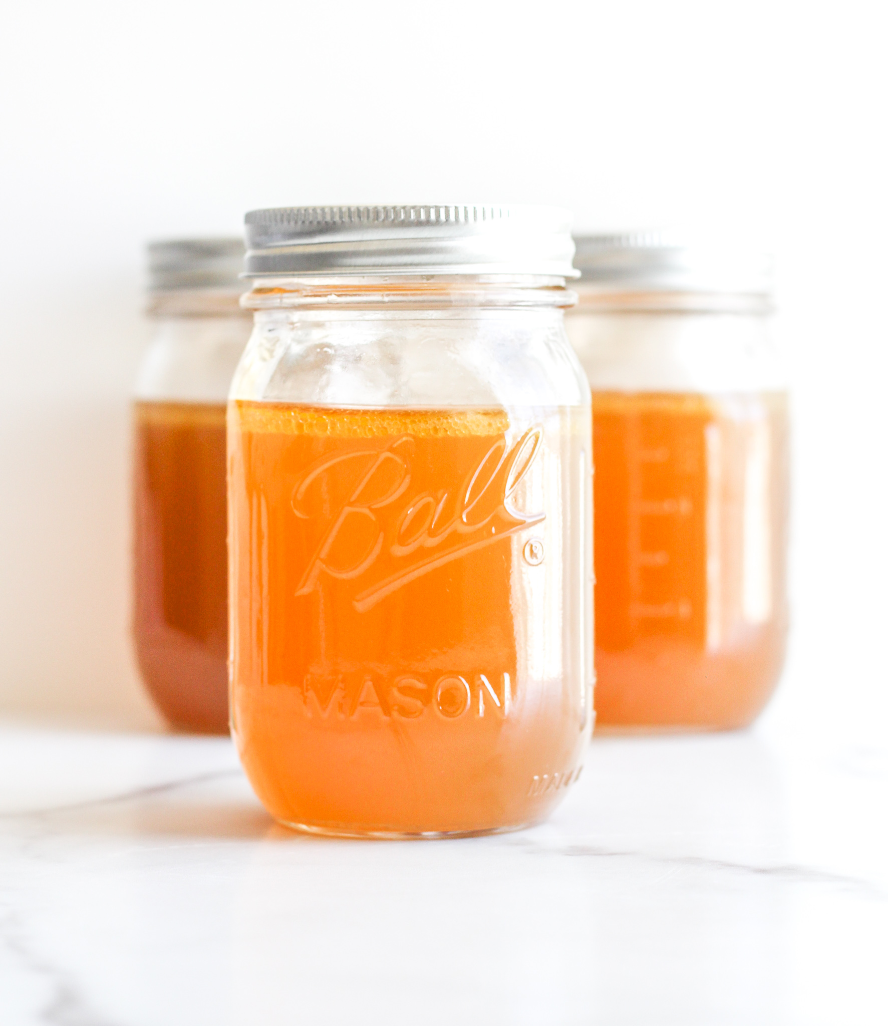 Bone Broth in Ball Mason Jars