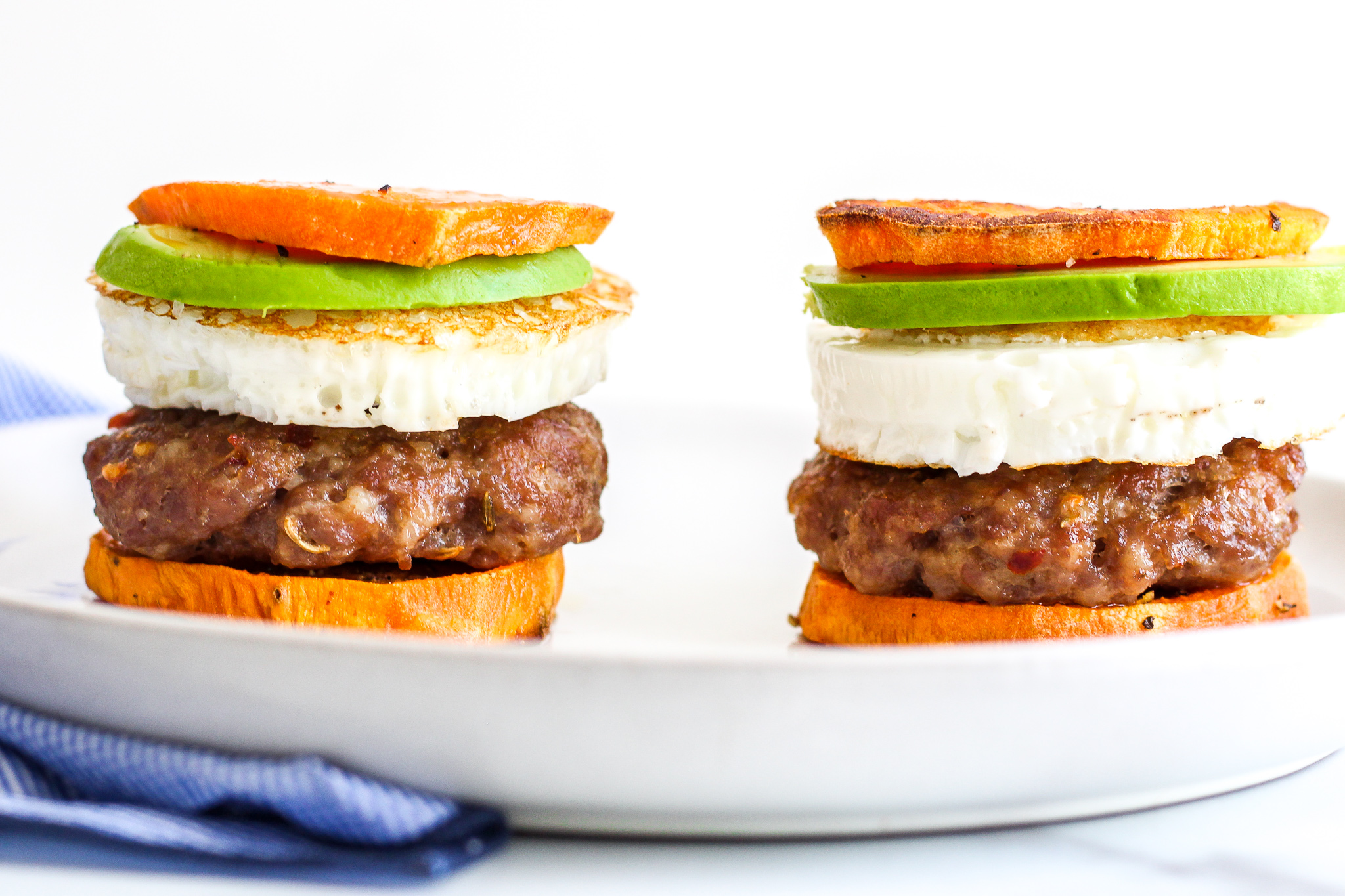 Whole30 Sausage & Egg Breakfast Sandwiches