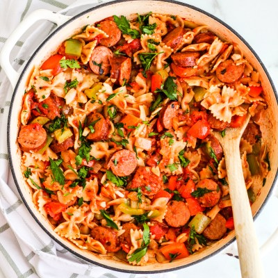 Easy Sausage & Pepper Pasta Skillet