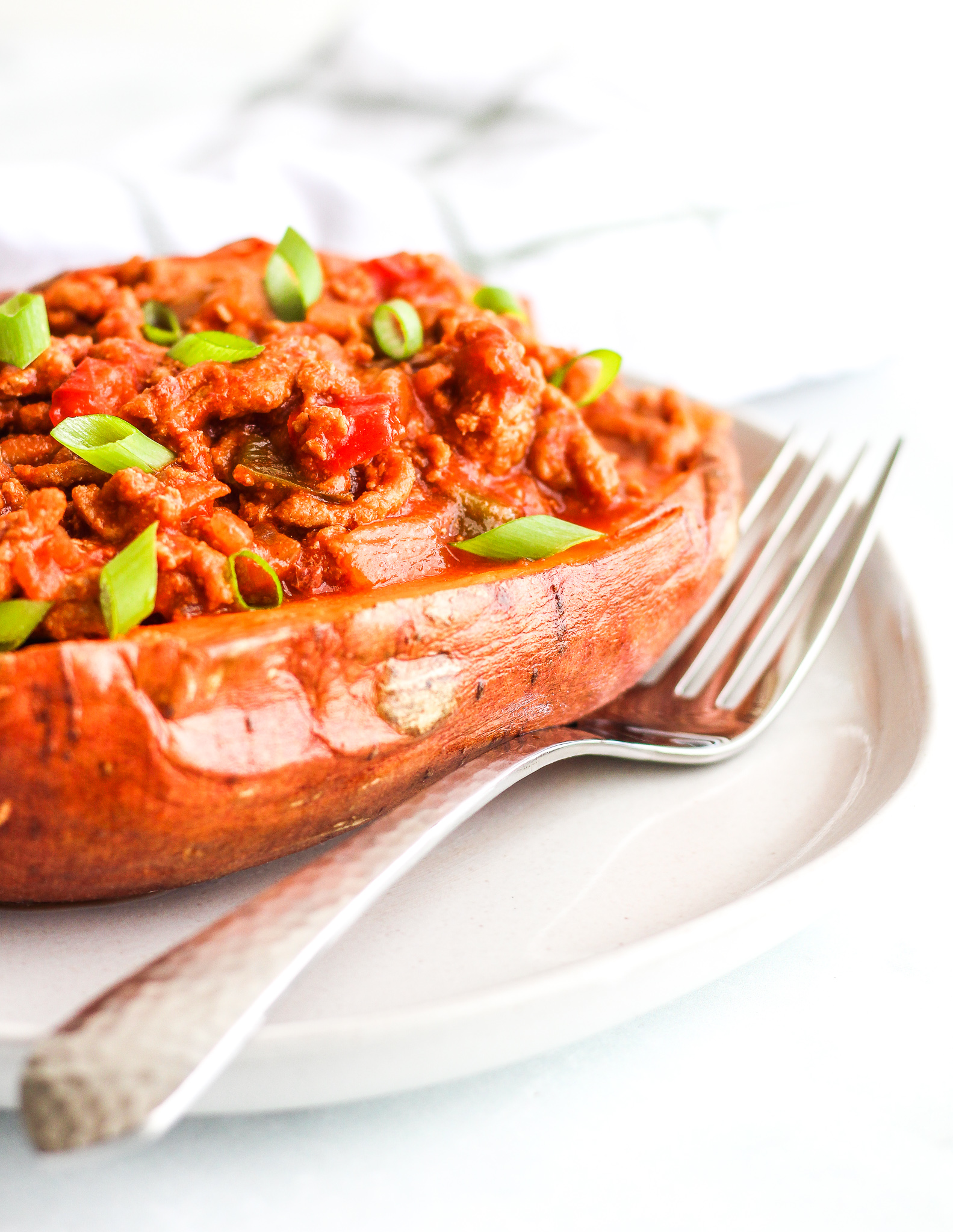 Instant Pot Sloppy Joe Stuffed Sweet Potatoes
