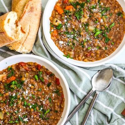 Instant Pot Lentil Stew