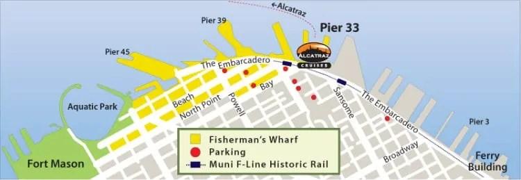 Alcatraz tour Cruises start from Pier 33
