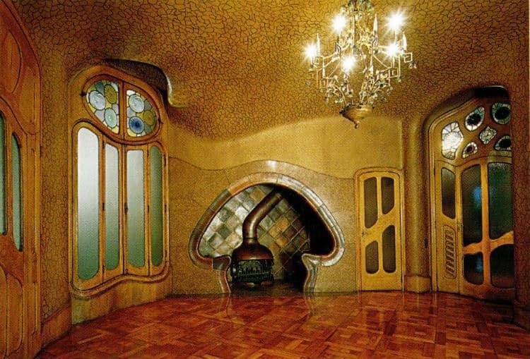 Mushroom fireplace inside Casa Batllo