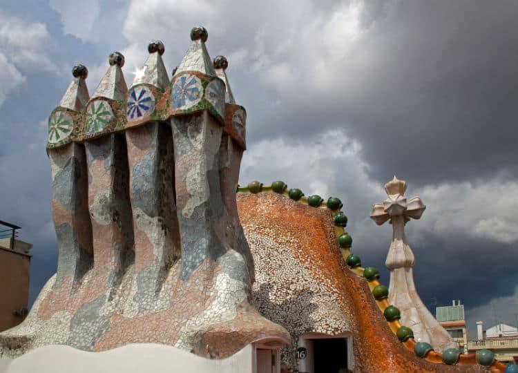 Chimneys on Casa Batllo roof