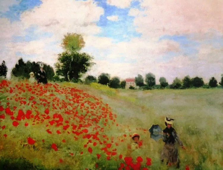 Poppy Field by Claude Monet