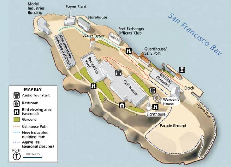 Alcatraz Island map