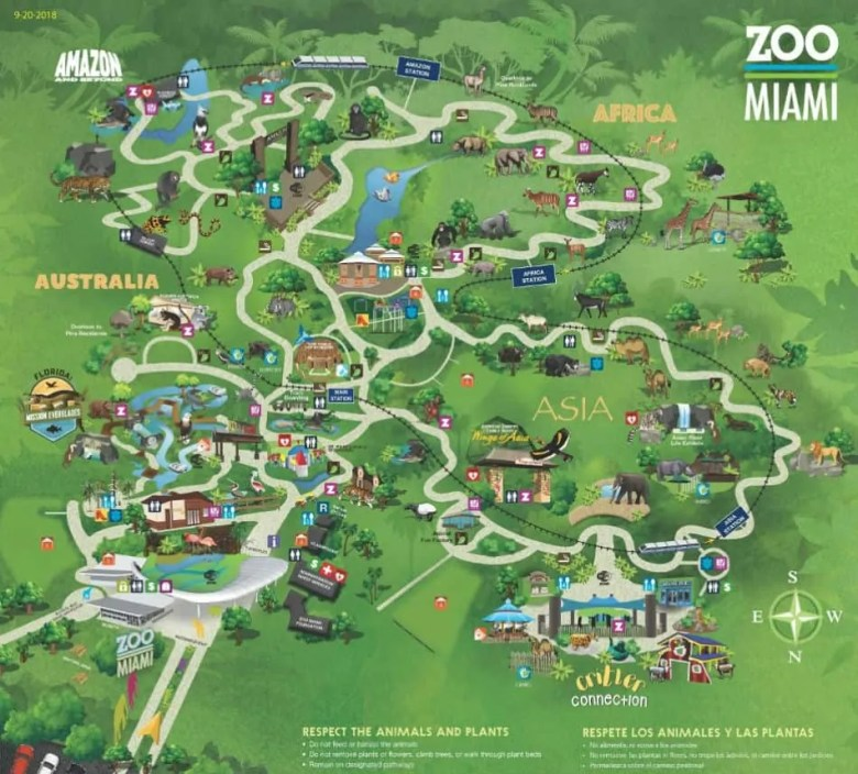 Miami Zoo Map