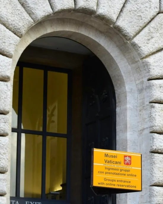 Vatican Museum entrance for guided tours