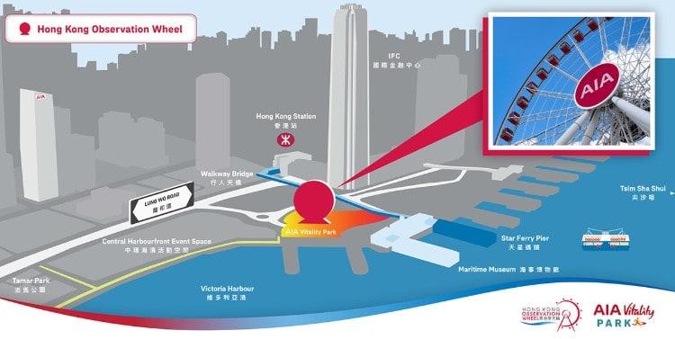 Hong Kong Observation Wheel map