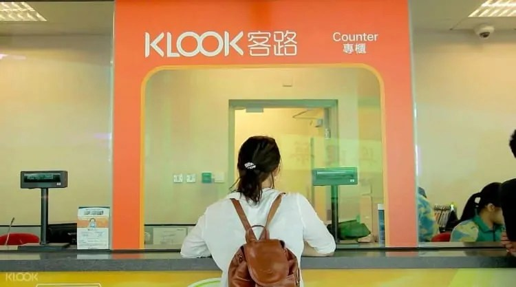 Klook Counter for Ngong Ping 360 tickets