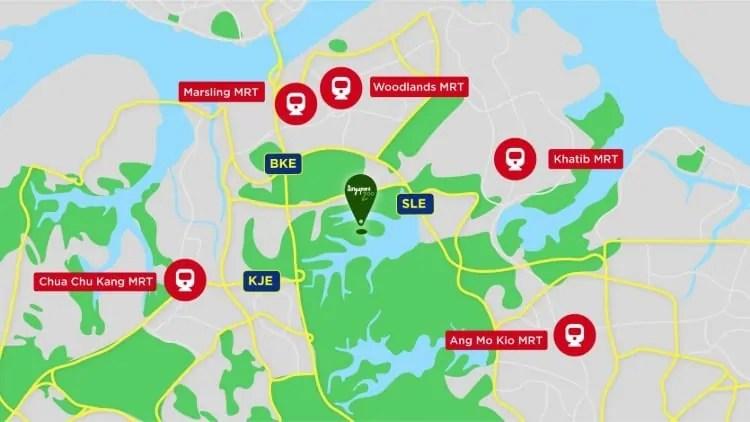 MRT stations near Singapore Zoo