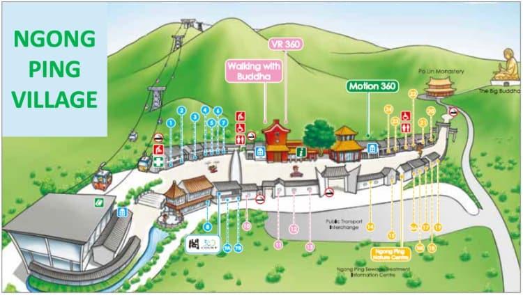 Ngong Ping Village Map