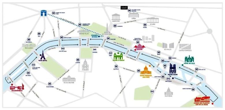 Seine River Cruise Route