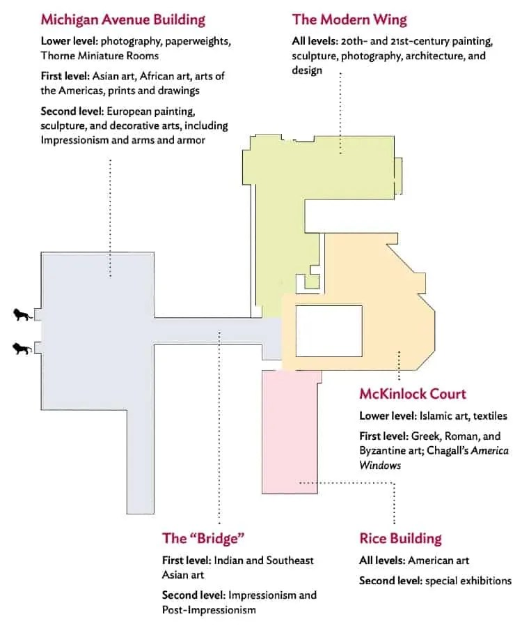 Art Institute of Chicago layout