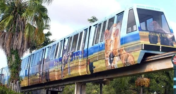 Monorail at Miami Zoo