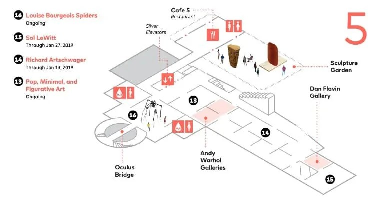 SFMoMA map - Fifth Floor