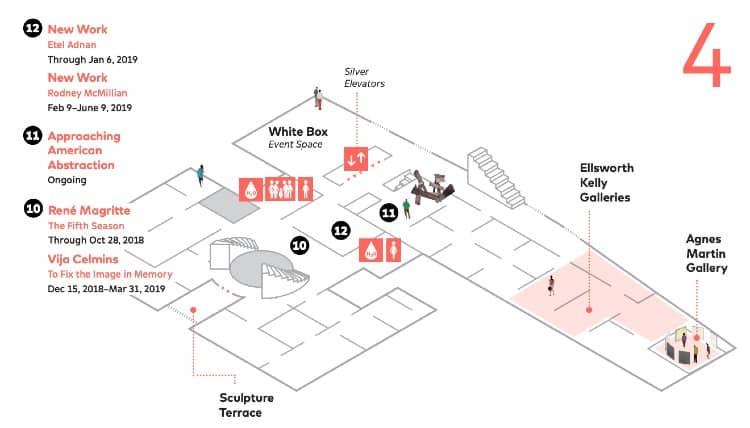 SFMoMA map - Fourth Floor