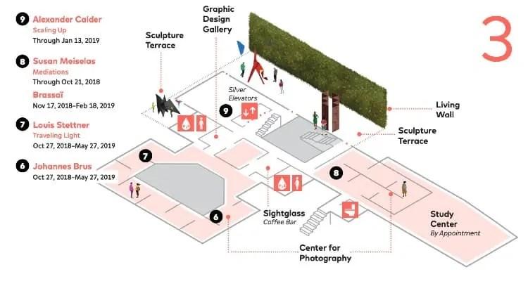 SFMoMA map - Third Floor