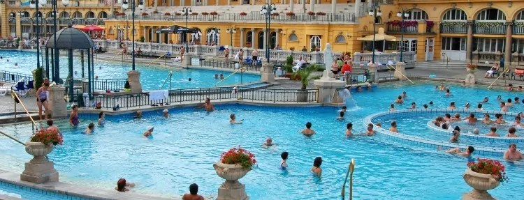 Outdoor pools in Szechenyi Spa Baths