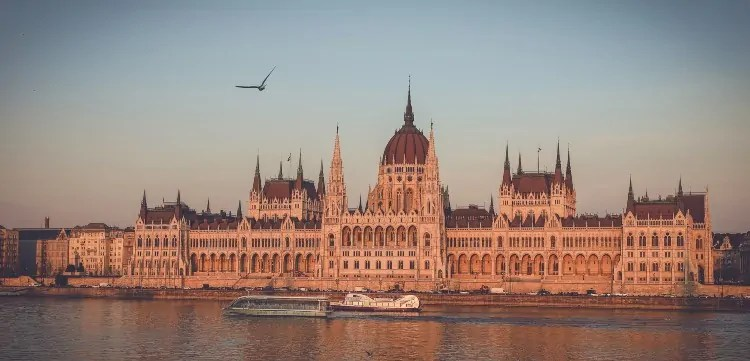 View of Hungarian Parliament from Danube Cruise