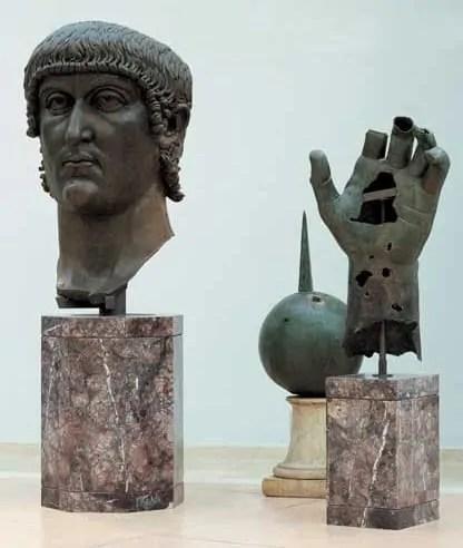 Bronze colossus of Constantine at Capitoline Museum