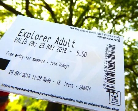 Kew Gardens Explorer ticket