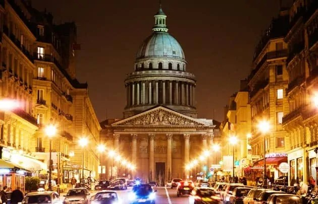 Pantheon Paris at night
