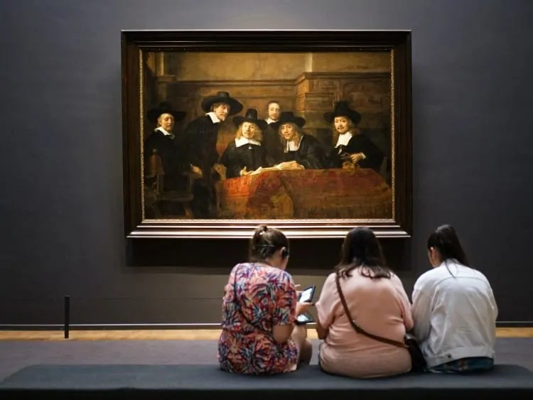 Visitors at Rijksmuseum