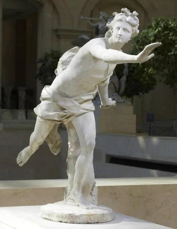 Apollo Pursuing Daphne at Louvre Museum