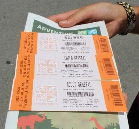 Miami Zoo tickets