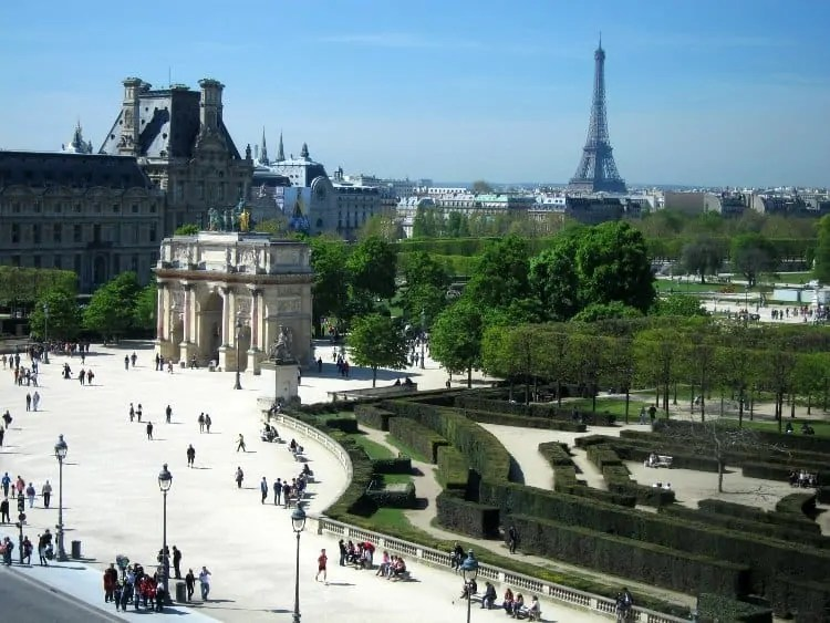 View of Eiffel Tower from Louvre Museum