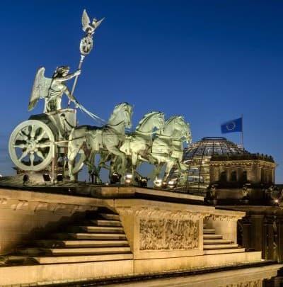 Quadriga statue on Brandenburg Gate