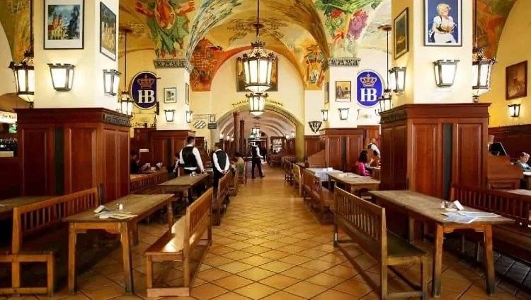 Beer Hall in Hofbrauhaus Munich