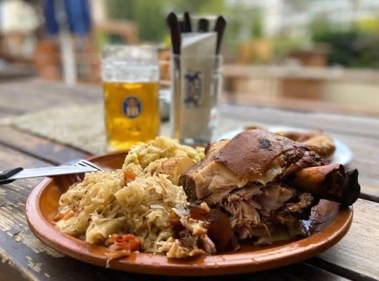 Food at Hofbrauhaus Munich