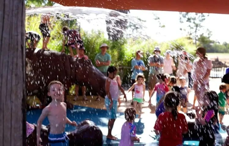 Water play for kids at Werribee Zoo
