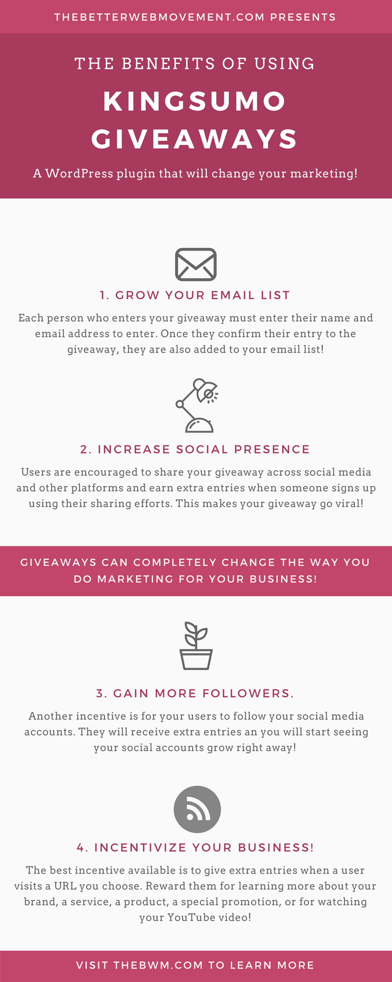 How to host a giveaway - The Better Web Movement