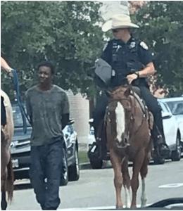 Galveston Police lead black man on leash