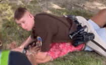 Deputy Martin, with the Kaufman County Sheriff's Office, is on administrative leave after laying on top of a young woman to detain her.