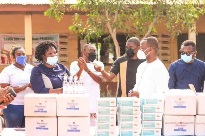 Botweburg donates COVID-19 protective Items to Nii Sowah Din Schools