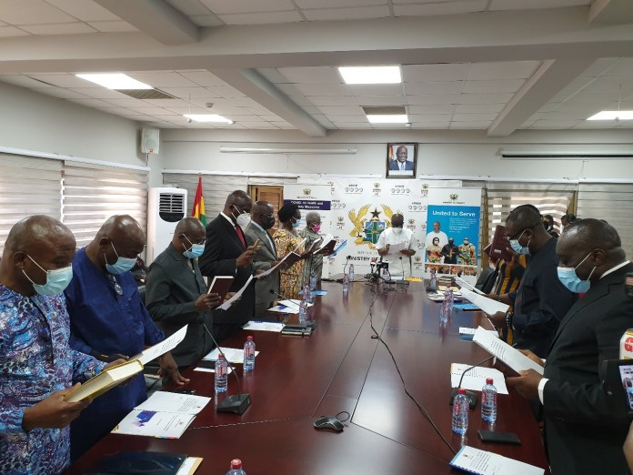 Ofori-Atta swears in SEC, GRA, SSNIT boards