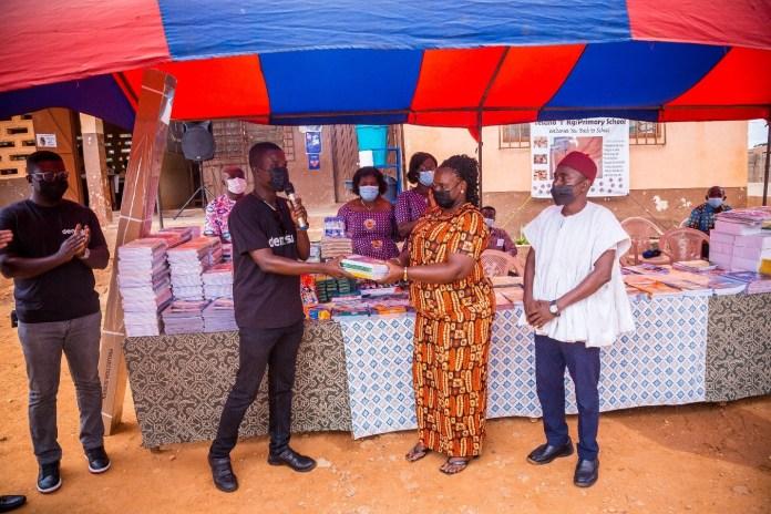Dentsu Ghana donates educational materials to Tesano Cluster Of Schools