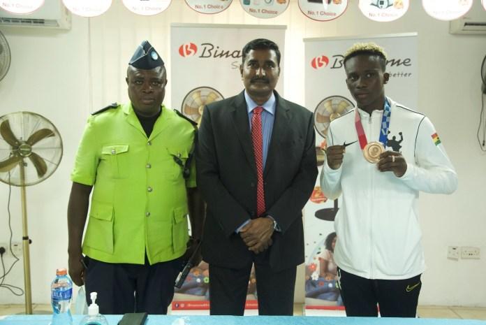 Samuel Takyi sole medallist at the Tokyo Olympics lauded by Binatone