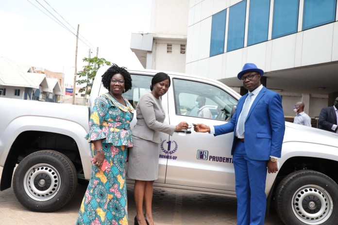 Prudential Bank donates vehicle to reward first runner-up of teacher prize