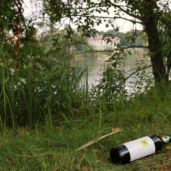 Camping beside a path by the river in Bergamo #partyforone