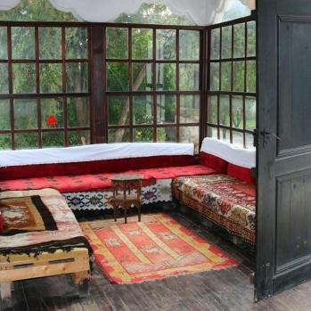 Main seating area in the Emin Gjiku house, which dates from the 18th century.