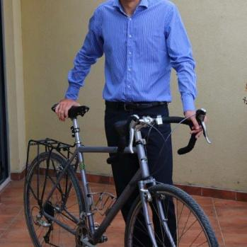 S, my very kind host, who – with his partner, V – is an avid cyclist in Kosovo's mountainous terrain.