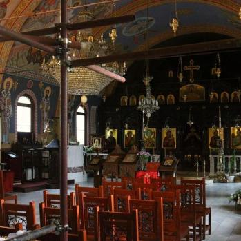 The interior of the Church of St Nicholas the Miracle-Maker, a strikingly charming Russian Orthodox church built in 1914. after the liberation of Bulgaria by Russia from the Ottoman Empire.